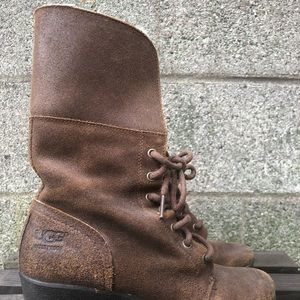 UGG Shoes - Sherpa-lined UGG Wedge Boot - Size 7